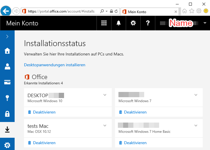Microsoft Office 365 for private use › RRZE-Anleitungen