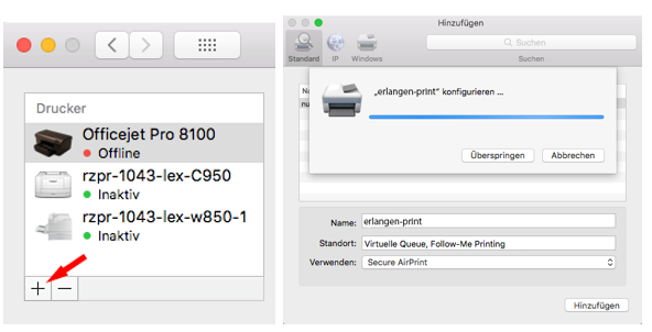 Mobiles Drucken MacOS