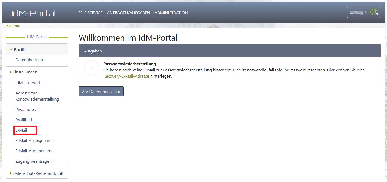 Willkommen im IDM-Portal