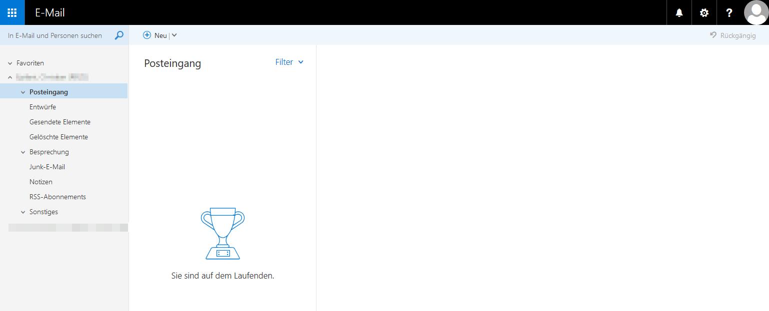 Das Bild zeigt den Posteingang der Outlook Web App.