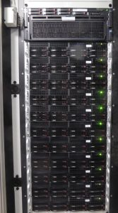 Rack with servers