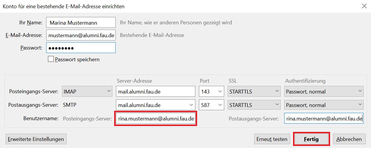 Posteingangs-Server - Fertig
