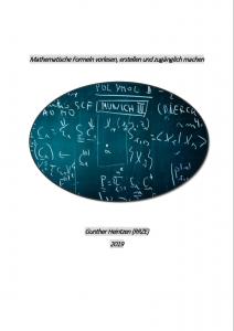 Deckblatt Mathematische Formeln vorlesen, erstellen und zugänglich machen