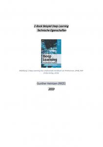 Deckblatt Technische Eigenschaften des E-Book Beispiels Deep Learning