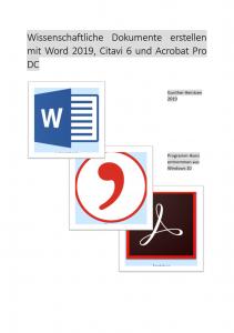 Deckblatt Wie ist die PDF-Datei Mathematische Formeln erstellen und vorlesen entstanden