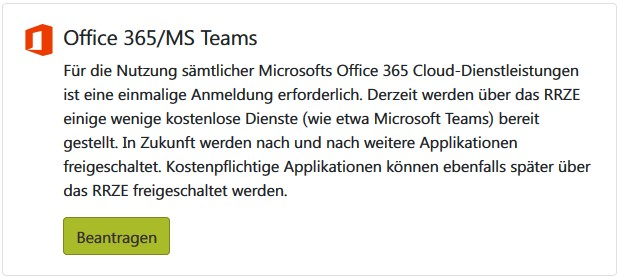 IDM Office 365 Beantragen