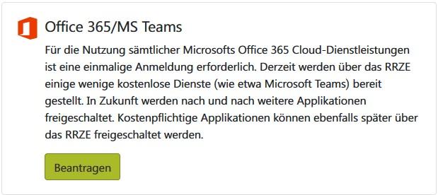 IDM Office 365 Beantragen