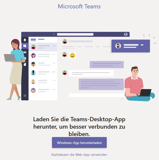 MS Teams Desktop-App