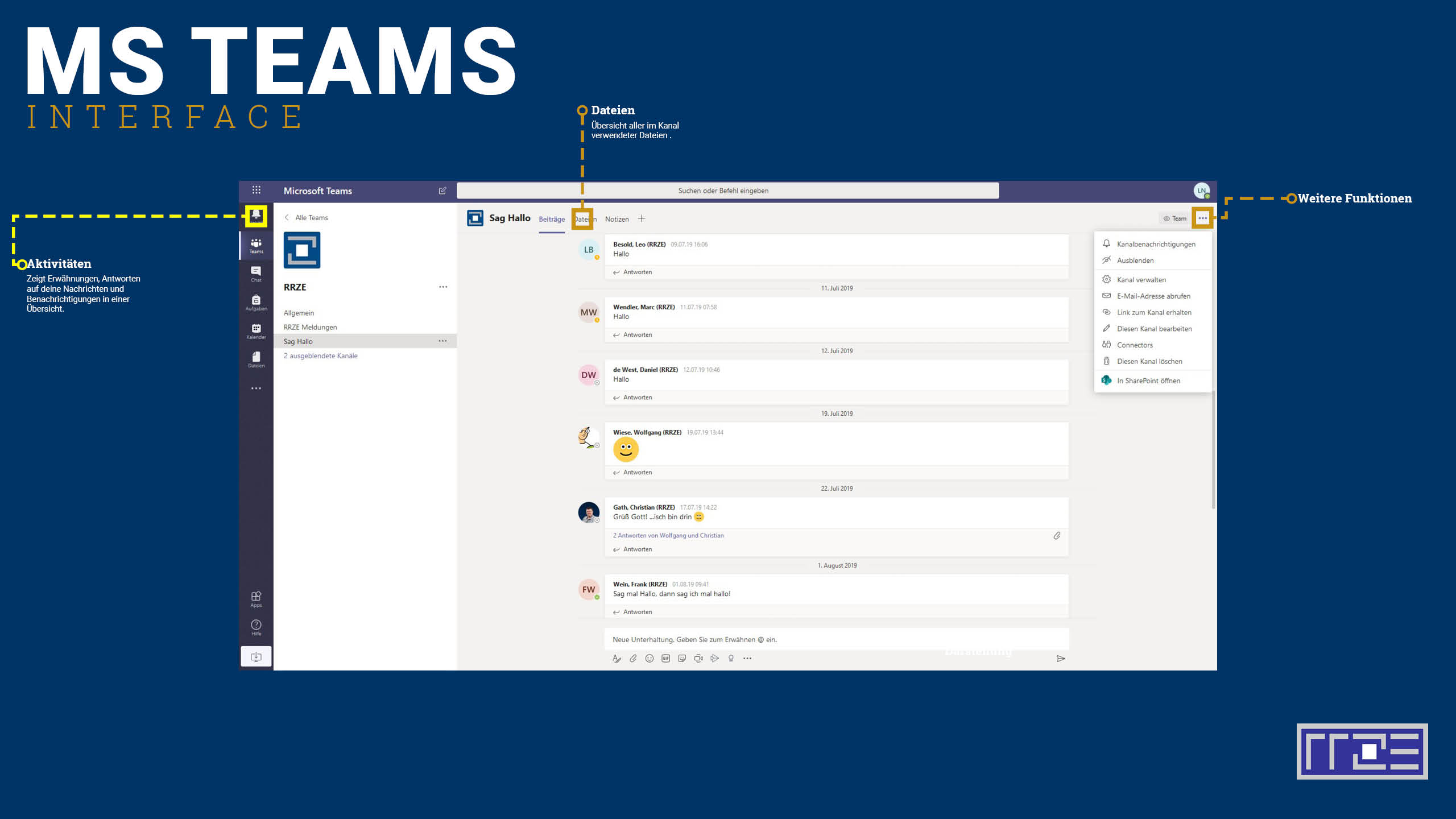 MS Teams Interface