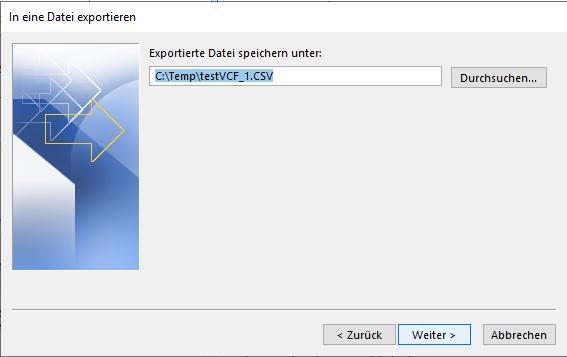 Dateipfad eingeben