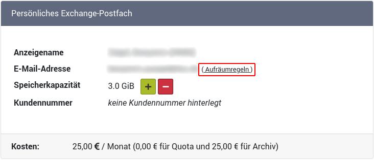 """""""Persönliches Exchange-Postfach"""""""