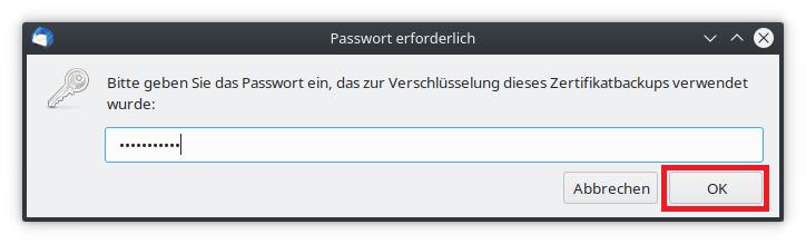 Passwort eingeben