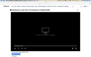 Zeigt Abbildung mit umgelenkter Bildschirmausgabe