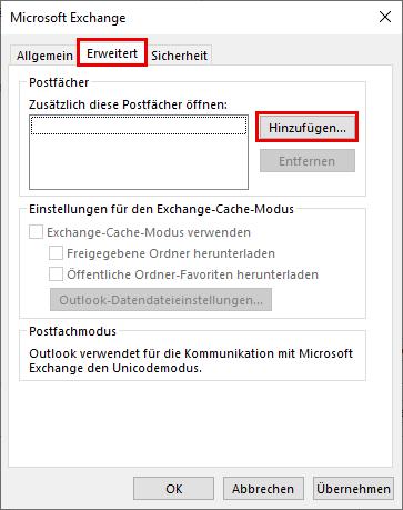 "Fenster ""Microsoft Exchange"""