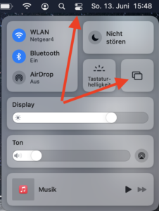Screenshot MAC OS