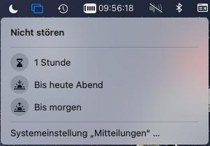 """MAC OS """"Bitte nicht stören Modus"""""""